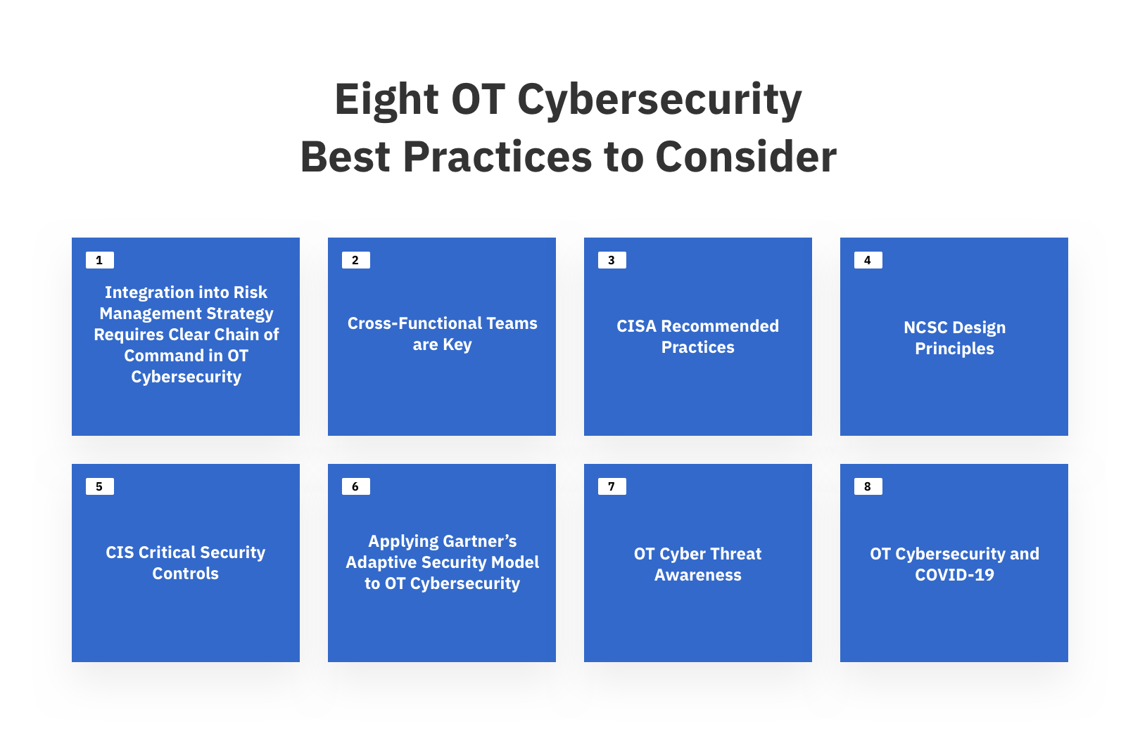eight ot cybersecurity best practices