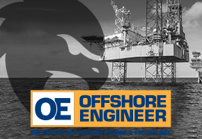 offshore oil rig with mission secure logo overlay
