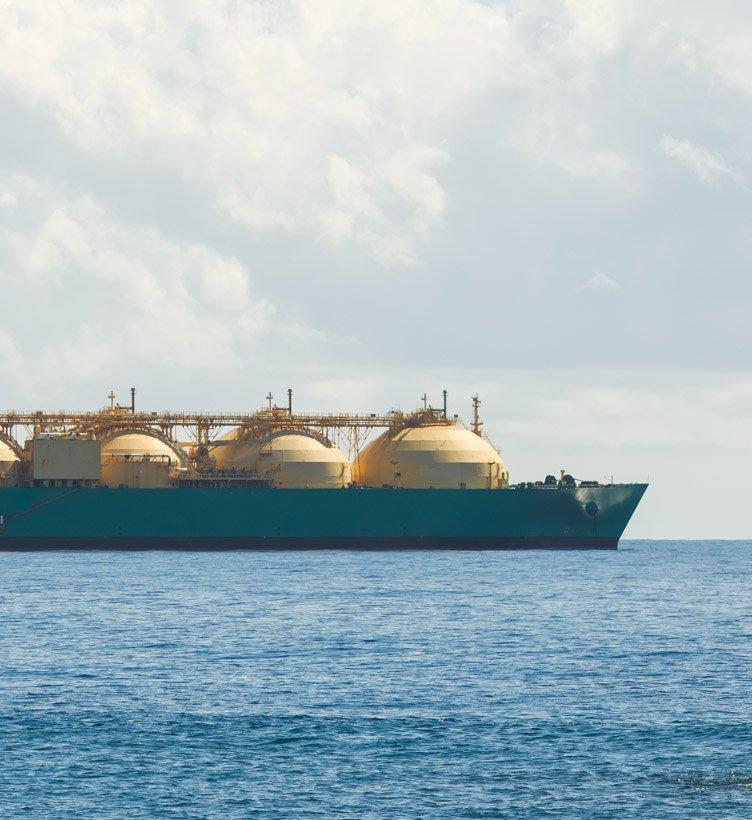 oil tanker ship at sea