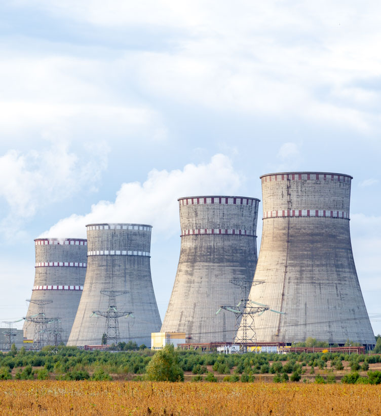 nuclear reactor exhaust stacks
